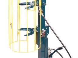 Стяжка пружин пневмогидравлическая напольная с навесным защитным каркасом