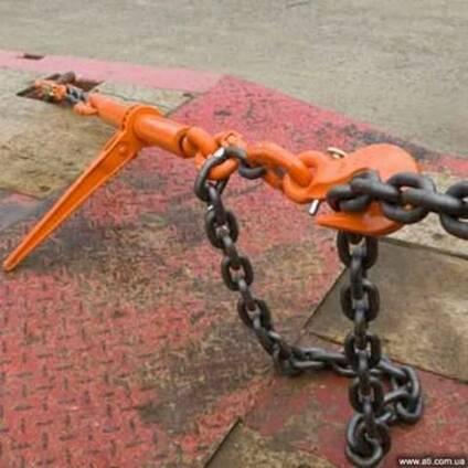 Стяжное устройство для закрепления грузов цепью 3,5,8т