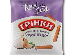 """Сухарики житні грінки зі смаком """"Часник"""" 35 г ТМ Royal Snack"""