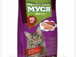 Сухой корм для котов Муся со вкусом микс 10 кг