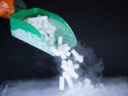 Сухой лед в гранулах