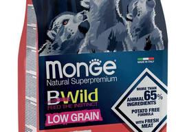Сухой низкозерновой корм для щенков MONGE DOG BWILD LOW GRAIN Puppy Junior с олениной 15кг