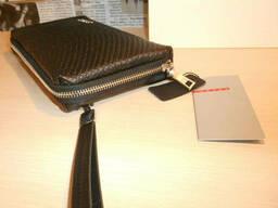 Сумка мужская клатч барсетка Prada, кожа, Италия - фото 7