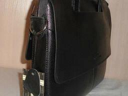Сумка-портфель мужская Armani, кожа, Италия - фото 3