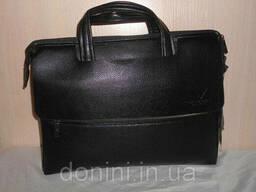 Сумка-портфель мужская Armani, кожа, Италия - фото 2