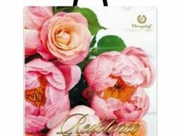 Сумка с пластиковой ручкой 40*42 ПИОН Розовый