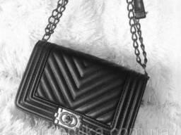24516254 Сумка Шанель Le Boy Chevron Flap , копии брендовых сумок из - фото 1