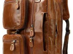 Сумка-трансформер 3 в 1 из натуральной кожи Vintage. ..