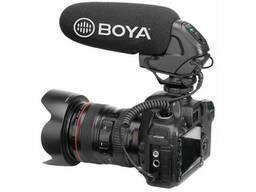 Суперкардиодный конденсаторный микрофон-пушка BOYA черный. ..