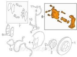 Суппорт передний левый Nissan Leaf ZE0 / AZE0 (10-17). ..