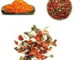 Сушеные овощи - морковь, лук, томаты, паприка, чеснок и тд