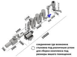 Сушилка аэродинамическая с автоматикой барабанная конвеерная сушильное оборудование