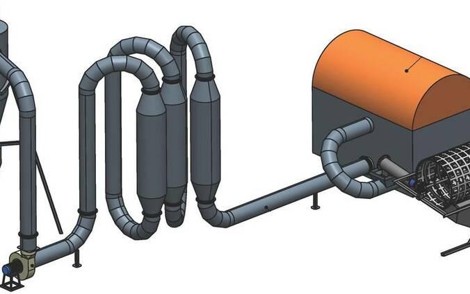 Сушильная линия КС-1/600, 600 кг/ч. Сушилка биомассы