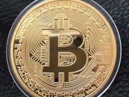 Сувенірна монета Bitcoin