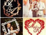 Свадебные аксессуары, свадебный декор из пенопласта - фото 4