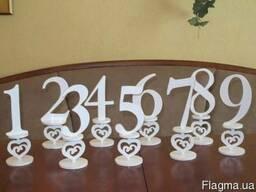 Свадебные номерки на стол