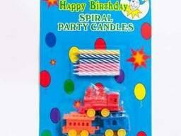 Свечи праздничные с подсвечниками-паровозиками. Артикул G8