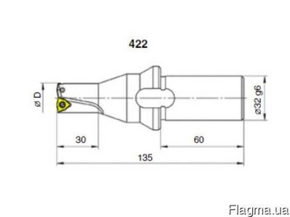 Сверла рельсовые укороченные с СМП ф 22.0 мм (1С/422 1С/459)