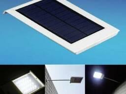 Светильник фонарь на солнечной батарее 24 LED лед с датчиком