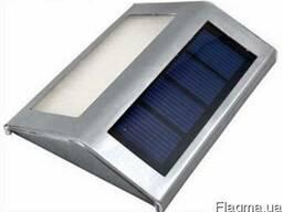 Светильник фонарь на солнечной батарее 2LED с датчиком света