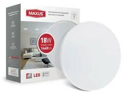 Светильник потолочный светодиодный Maxus тонкий 4100K 18W. ..