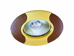Светильник точечный (MR 16) 737 A GU/G графит/золото, Аско