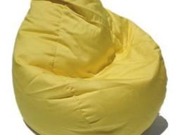 Светло желтое кресло груша, бинбэг, мягкая мебель