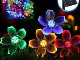 Светодиодная гирлянда на солнечной батарее Лютики RGB