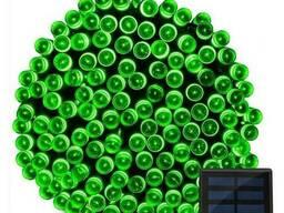 Светодиодная гирлянда на солнечной батарее 100 LED зеленый