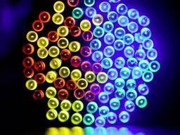 Светодиодная гирлянда на солнечной энергии 100 LED RGB