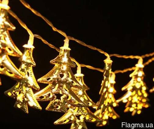 Светодиодная гирлянда Новогодние ёлочки 2,5м 20 LED