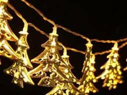 Светодиодная гирлянда Новогодние ёлочки 2, 5м 20 LED