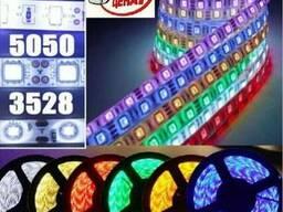 Светодиодная лента многоцветная RGB 3528 и 5050 60LED.