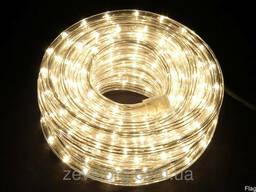 Светодиодный дюралайт LED 10м с контроллером белый