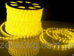 Желтый дюралайт LED-2W-100-240V (36 св. /м, АС 220 В,