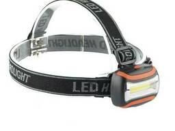 Світлодіодний ліхтарик налобний пластиковий Vargo VL763, 1LED COB, АААх3шт, розмір 60х50мм