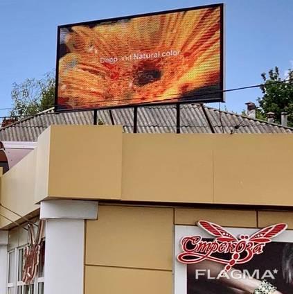 Светодиодный (LED) экран для рекламы. SMD P10. Видеоборды