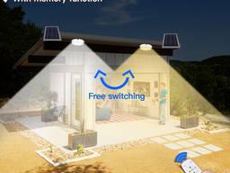 Светодиодный потолочный настенный светильник фонарь на солнечной батарее с пультом