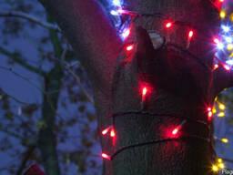 Гирлянда нить светодиодная, светодиодная подсветка деревьев
