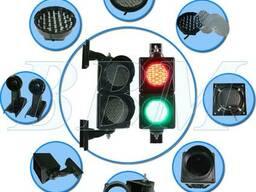 Светофор светодиодный двухсекционный, JD100-3-25ACL