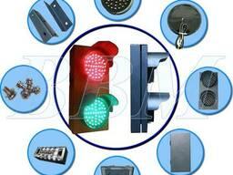 Светофор светодиодный двухсекционный, JD100-3-25A