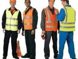 Светоотрающие, сигнальные жилеты, пошив сигнальных костюмов