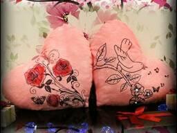 Светящаяся подушка - светильник ночник, подарок на 8 марта.