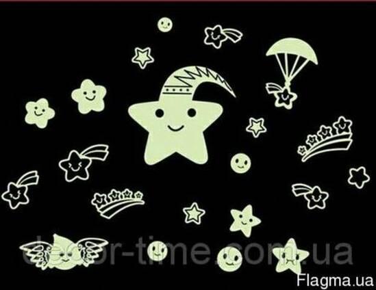 Светящиеся звездочки на потолок, стену купить (052)
