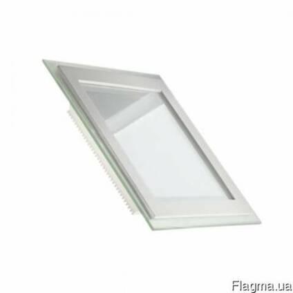 Світлодіодні світильники LedEx квадрат зі склом