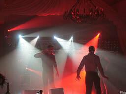 Світловий декор залів, освітлення танцмайданчика, дискотечне