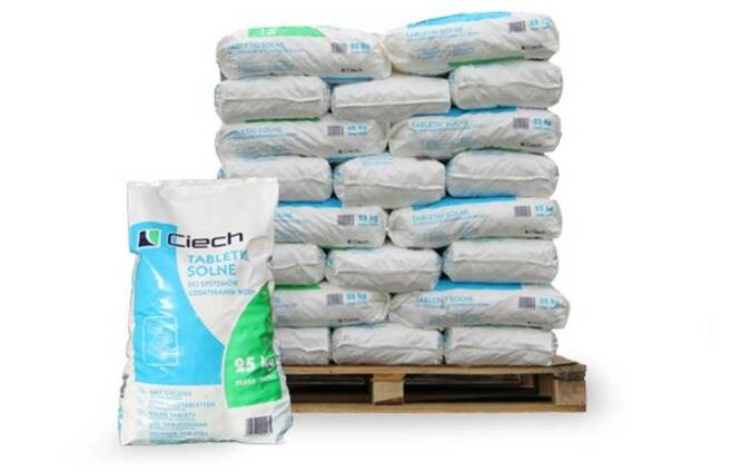 Таблетированная соль, 25 кг. (NaCl - 99,9%) Польша
