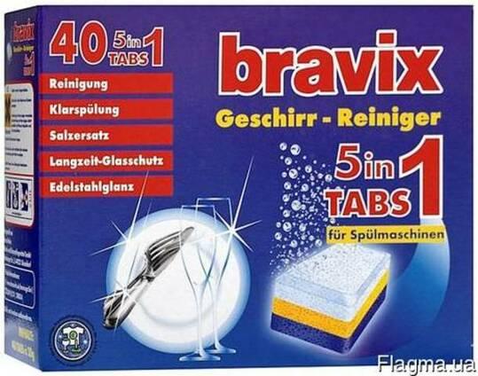 Таблетки для посудомоечных машин ОПТОМ Bravix (Бравикс) 40шт
