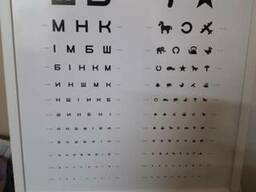 Таблица для проверки зрения с LED подсветкой