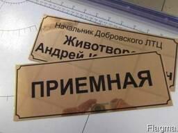 Табличка на дверь кабинетов, офисов, помещений (Изг.за 1час)